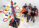 El equipo de JELO en el Centro Atlántico de Arte Moderno de Las Palmas de Gran Canaria