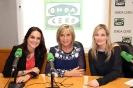 Julia Otero con Mónica Carrillo y Núria Torreblanca