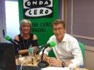 Julia Otero con Alberto Núñez Feijóo