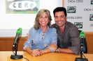 Julia Otero con Chayanne