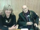 Julia Otero con el alcalde de Bilbao, Iñaki Azcuna