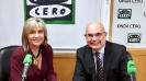 Julia Otero con el Dr. Josep Tabernero