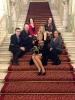 Julia Otero con el equipo de JELO al finalizar la gala de los Premios Ondas