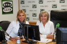 Julia Otero con la abogada Mireia Ruiz, de la Fundación Mujeres Felices