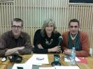 Julia Otero con Máximo Pradera y Antonio Naranjo en Bilbao