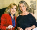 Julia Otero junto a Nieves Herrero en la revista Semana