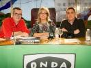 Julia Otero con Máximo Pradera y Antonio Naranjo en La Rioja