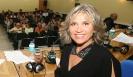 Julia Otero presentando el programa desde Monforte
