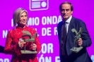Julia Otero recogiendo el Premio Ondas 2018