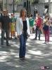 Julia Otero en la grabación de la promo de 'Ciudadanos'